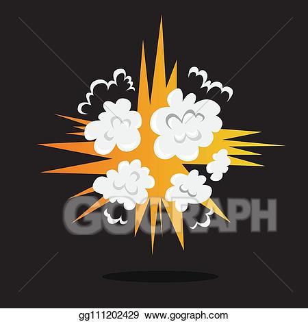 Bomb clipart vector art. Explosive boom effect smoke