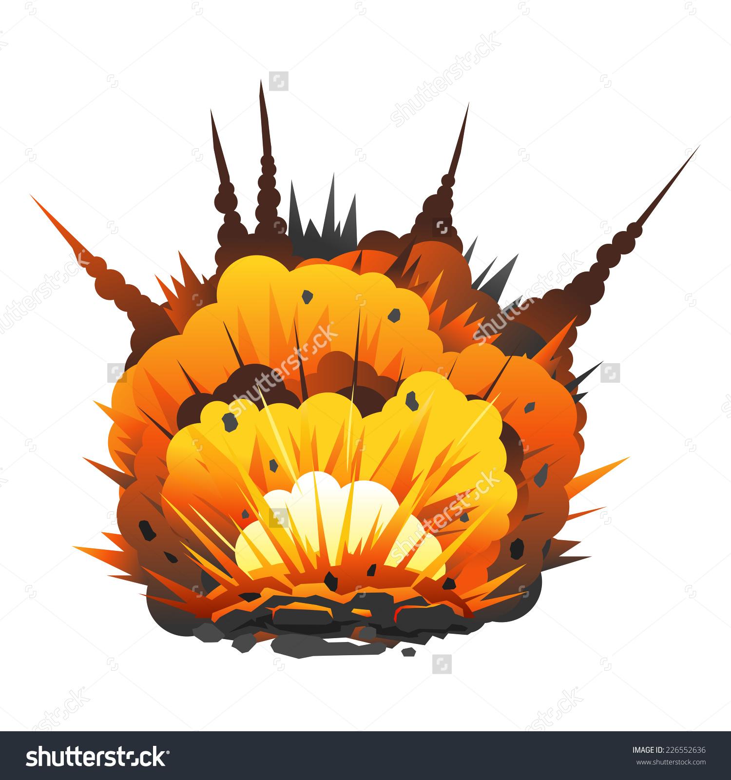 Bomb clipart vector art. Explosion explore pictures big
