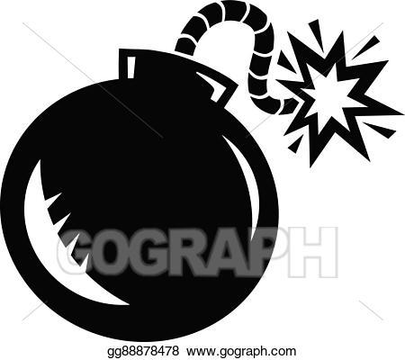 Drawing gg gograph . Bomb clipart vector art