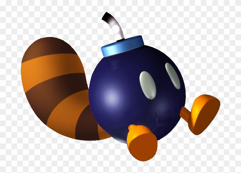 Bomb clipart video game. Tail bob omb mario