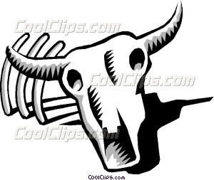 Bone clipart animal bone. Cow skull vector clip