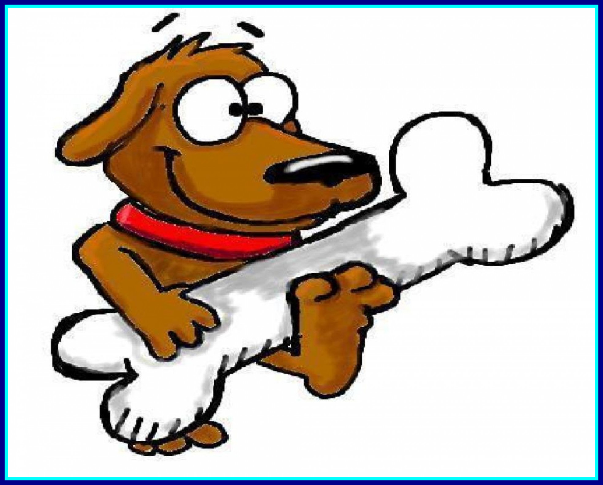 Inspiring dog cartoon stock. Bone clipart animated
