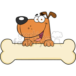 cartoon dog over. Bone clipart animated