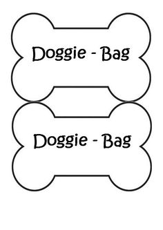 Dog bones group simple. Bone clipart bag