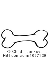 Doggy bones royalty free. Bone clipart black and white