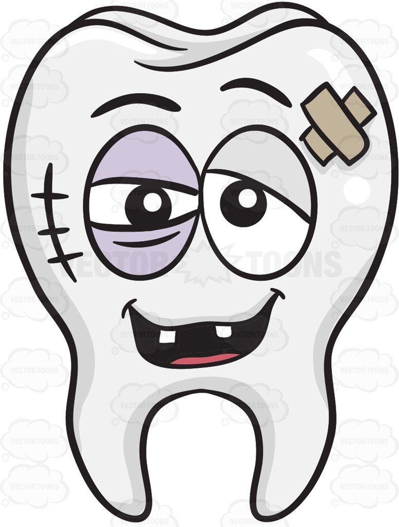 Badly bruised vector and. Bone clipart bone tooth