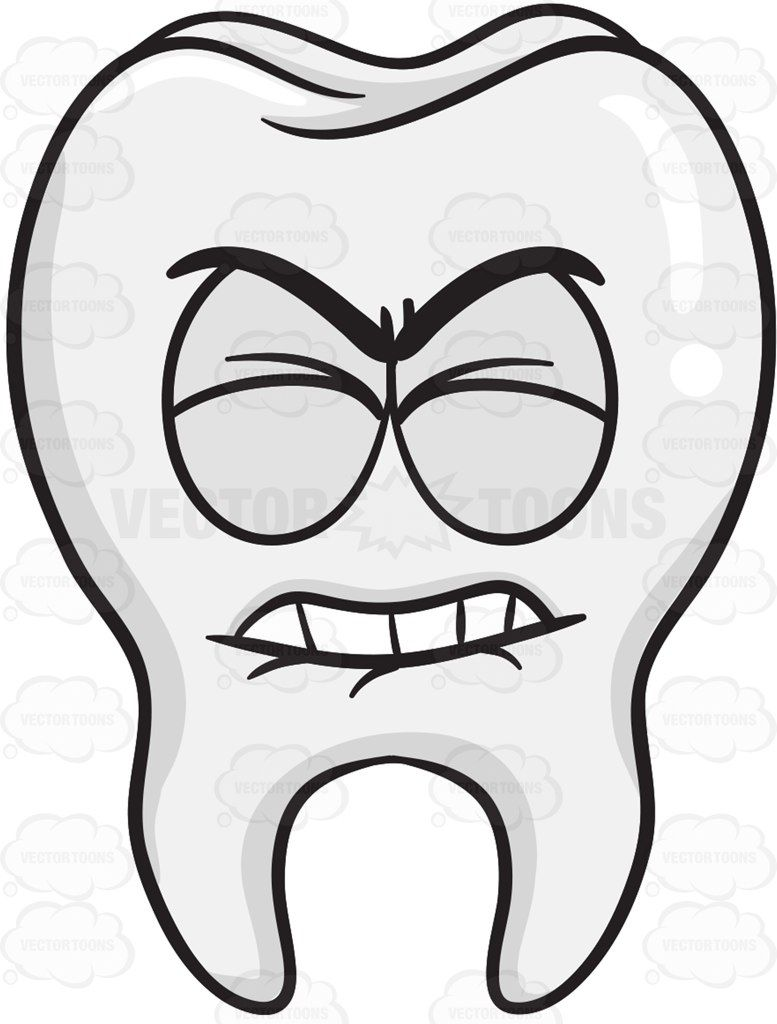 Bone clipart bone tooth. Frustrated looking vector and
