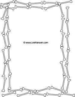 Bone clipart border. Skeleton bones sheet printable