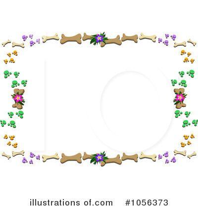 Dog clip art frames. Bone clipart border