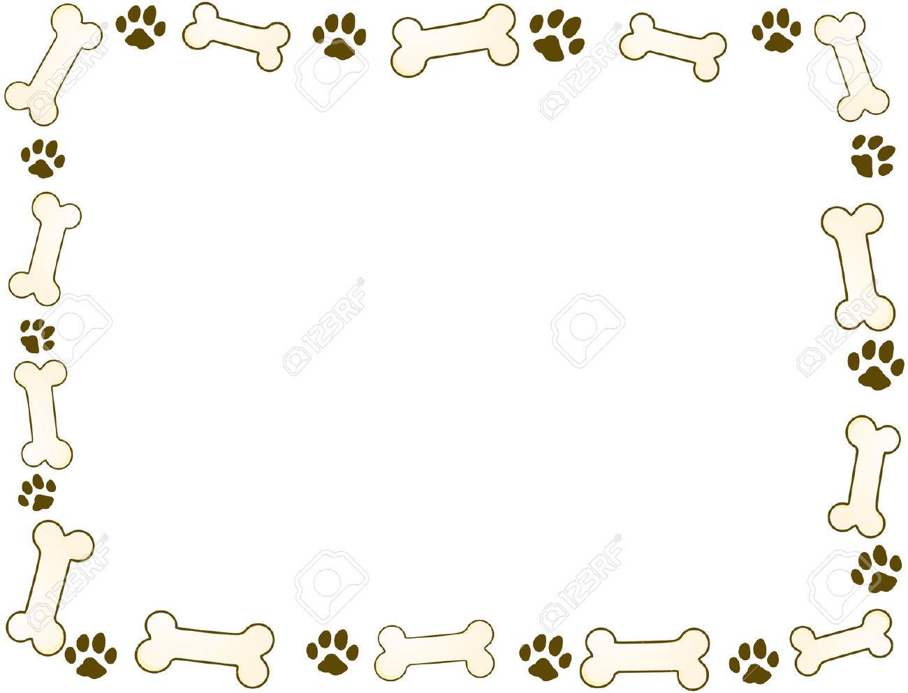 Bone clipart border. Dog frames