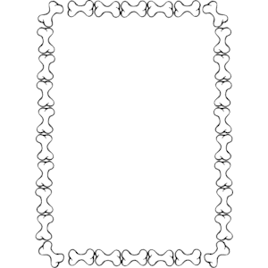 Bone clipart border.  collection of dog