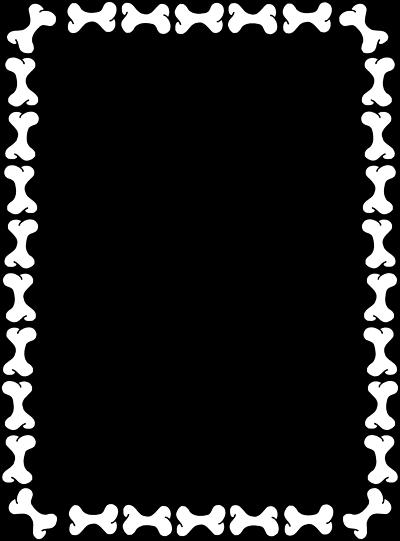 Dog . Bone clipart border