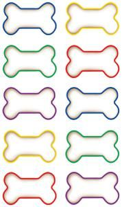 Dog border panda free. Bone clipart colorful