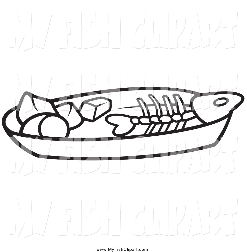 Clip art of a. Bone clipart coloring page