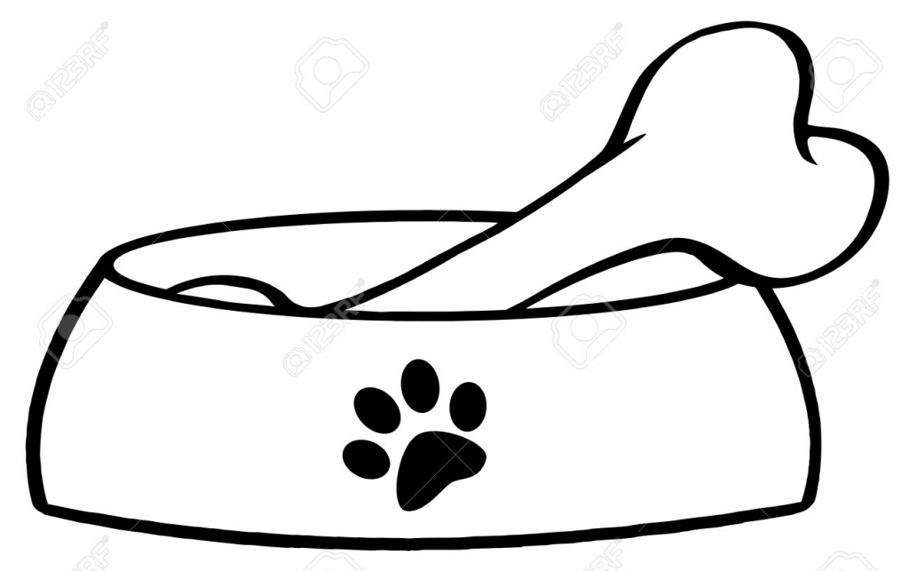 Bone clipart coloring page. Dog pages entracing bones
