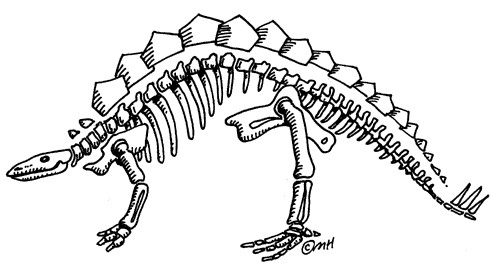 Amazing dinosaur bones pages. Bone clipart coloring page