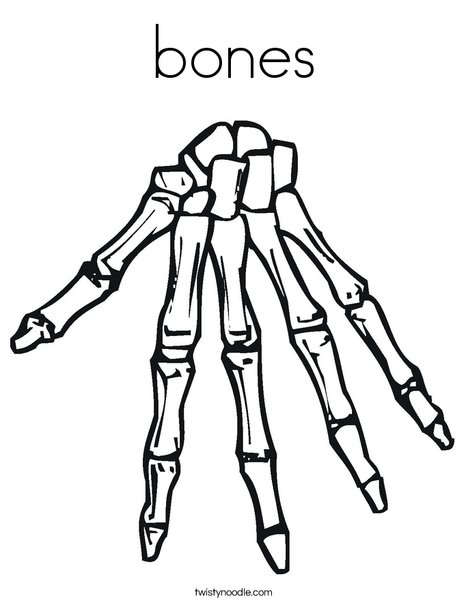 Pages printable pictures of. Bone clipart coloring page