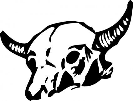 Head dead skull bones. Bone clipart cow