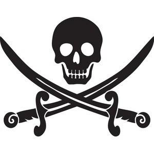 Bone clipart cross. Crossbones silhouette luxury skull