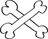Bone clipart cross. Bones panda free images