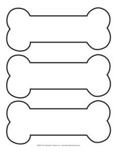 Bone clipart cut out. Dog pattern templates pinterest