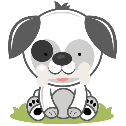 Puppy with svg cutting. Bone clipart cut out