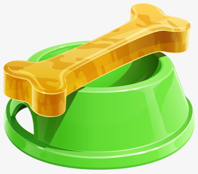 Bowl green png image. Bone clipart dog food