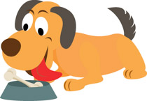Bone clipart dog food. Free clip art pictures