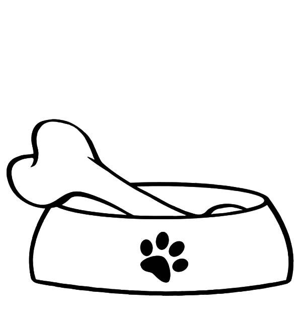 Bone clipart dog food. Bowl wikiclipart