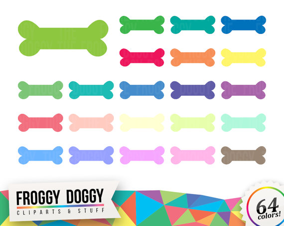 Bone clipart dog toy. Chew bones planner scrapbooking