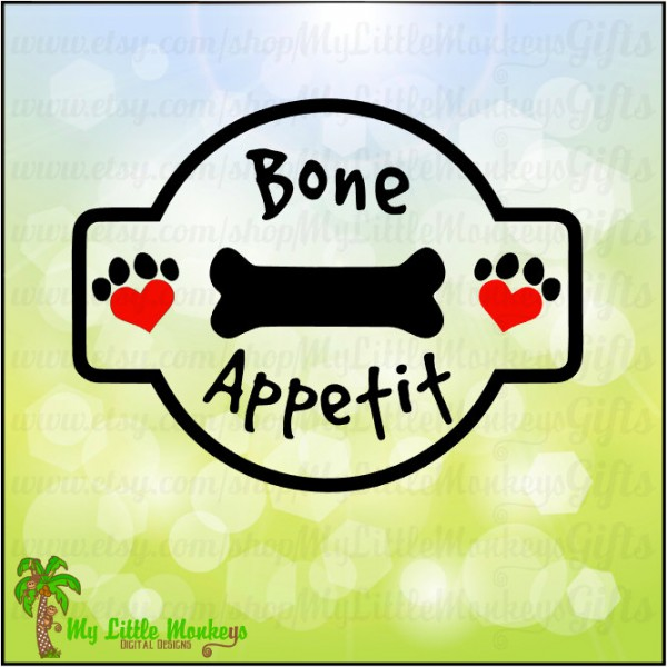 Appetit jar label design. Bone clipart dog treat