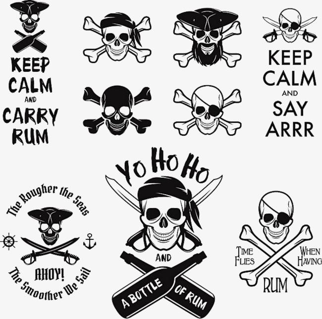 Bone clipart drawn. Hand pirate skull and