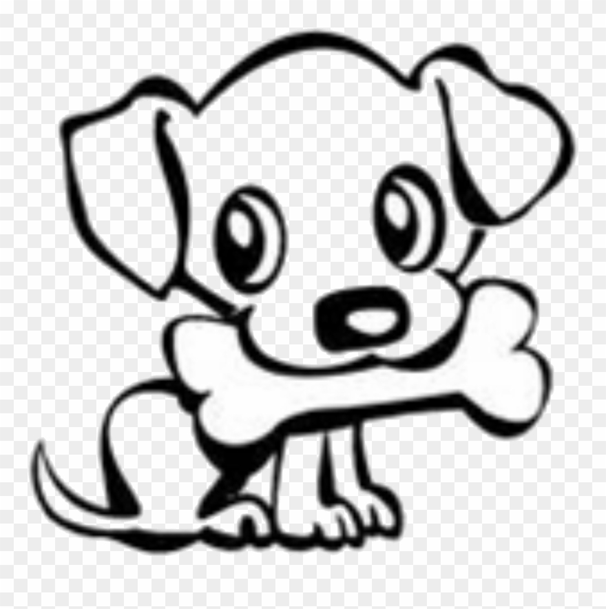 Dog drawings group banner. Bone clipart easy