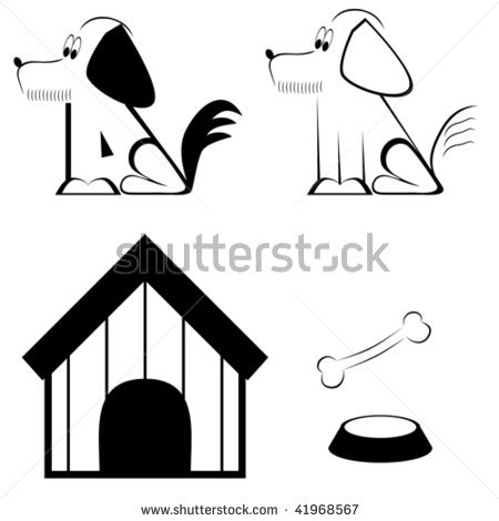 Bone clipart easy. Dog clip art black