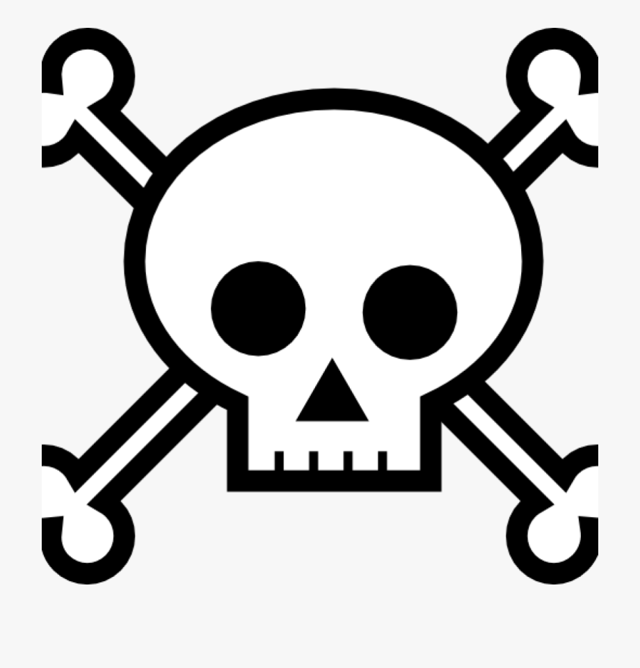 Bone clipart easy. Skull and bones drawing