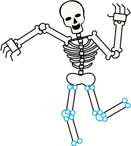 Bones skeleton body drawing. Bone clipart easy