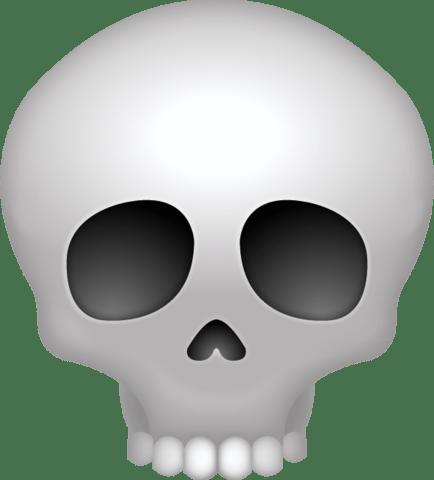 Bone clipart emoji. Skull transparent png stickpng