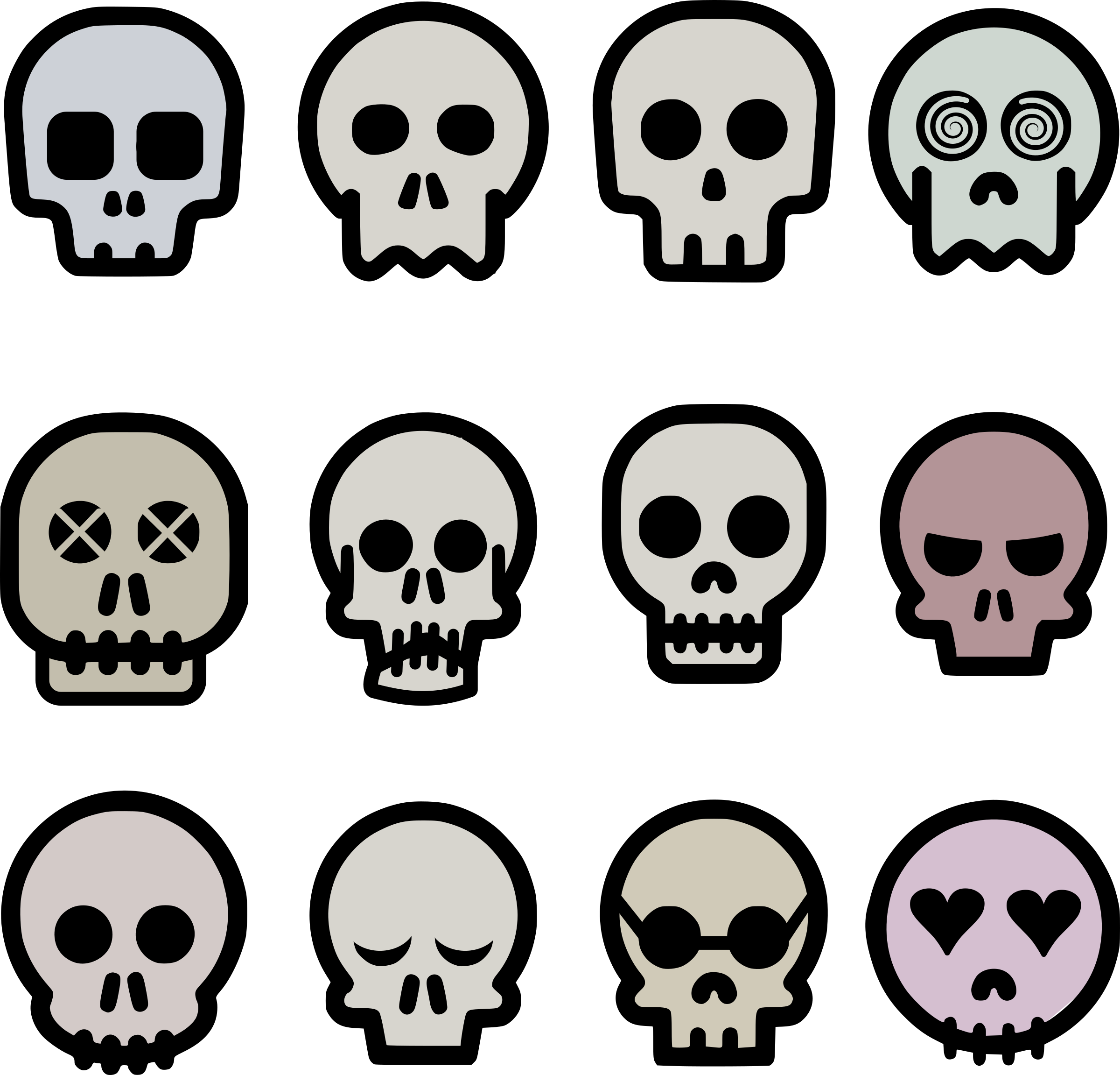 Skull big image png. Bone clipart emoji