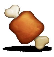 Ios meat on . Bone clipart emoji