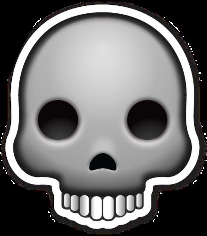 Bone clipart emoji. Emoticonos whatsapp dead sticker