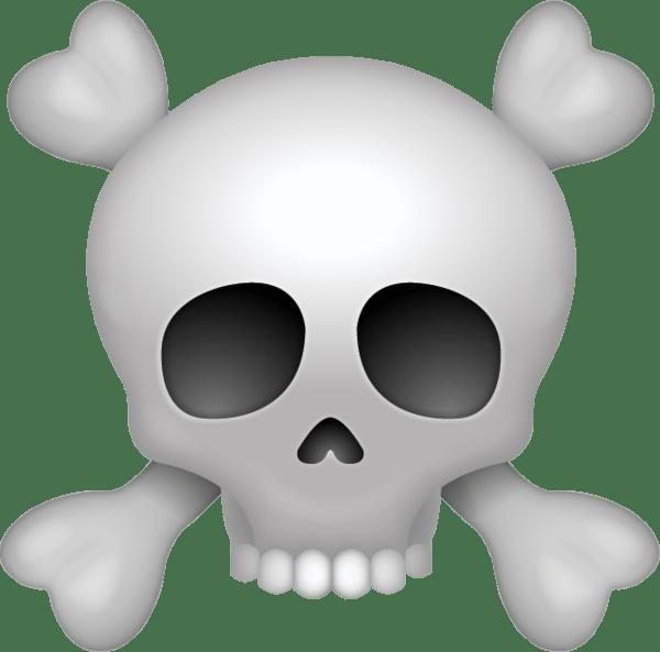 Pirate skull transparent png. Bone clipart emoji
