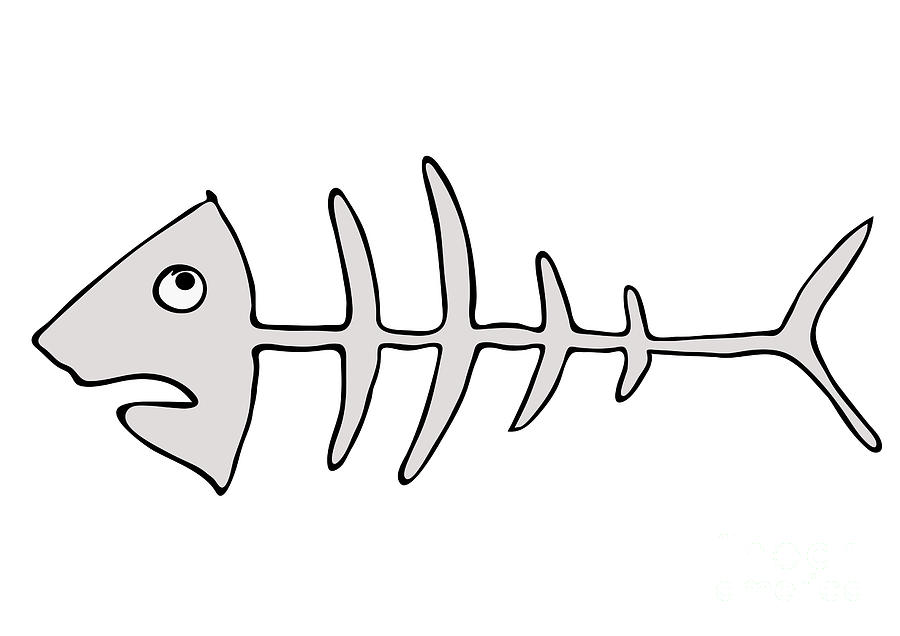 Bones graffiti . Bone clipart fish bone