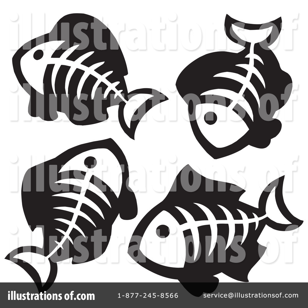 Bone clipart fish bone. Bones illustration by visekart