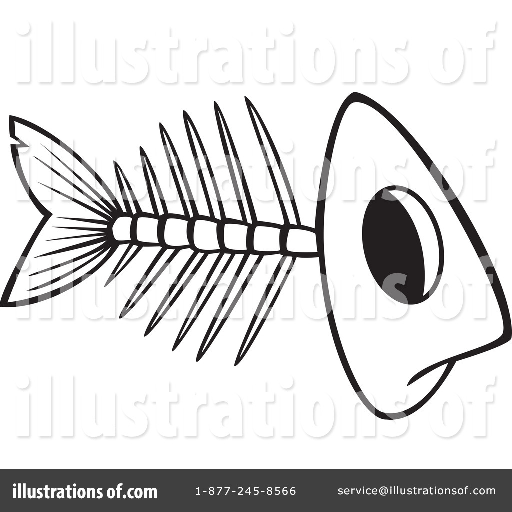 Bone clipart fish bone. Bones illustration by toonaday