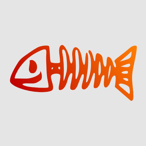 Bone clipart happy. Fish clip art at