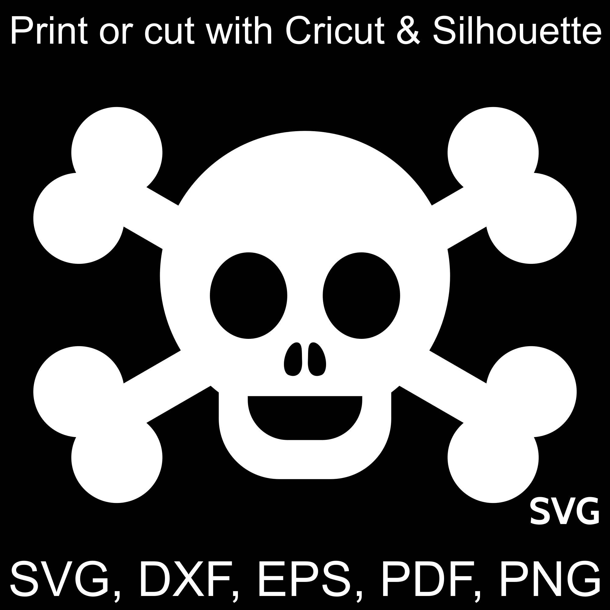 Pirate flag svg file. Bone clipart happy