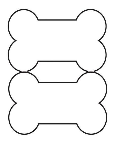 Dog template printable pinterest. Bone clipart hueso