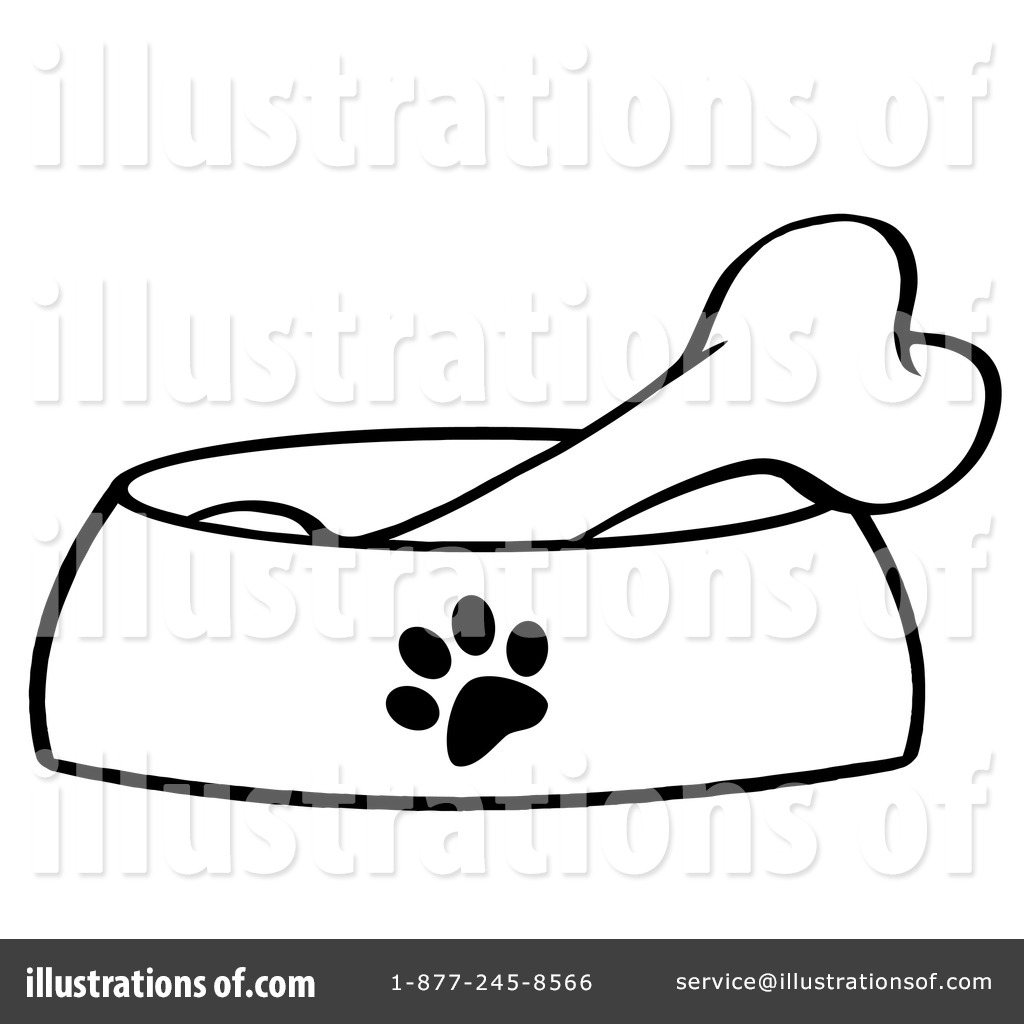Bone clipart illustration. Dog by hit toon
