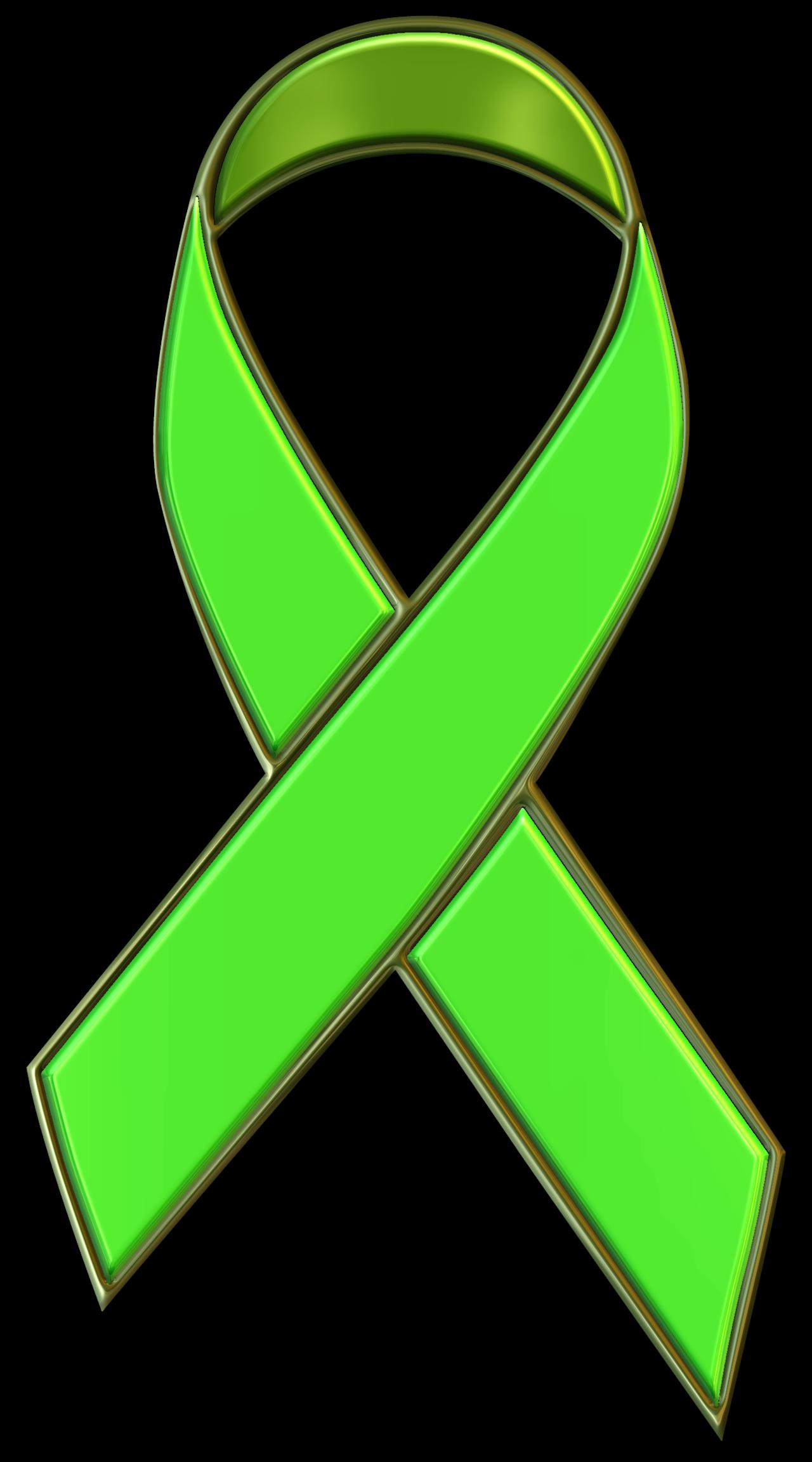 Green ribbon free. Bone clipart kid