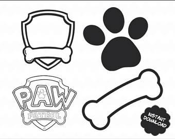 Bone clipart paw patrol. Svg logo eps dxf